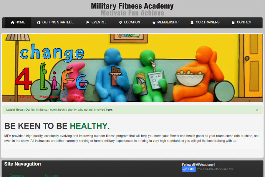 Military Fitness Academy – Dabble IT Services
